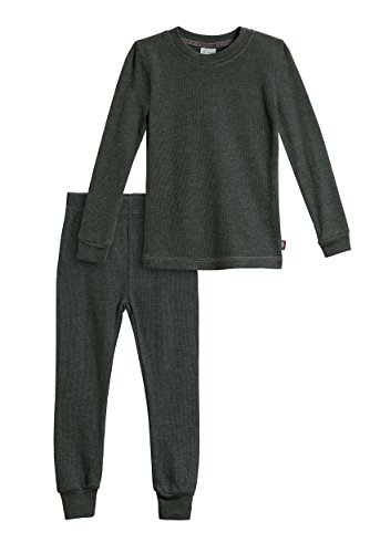 City Threads Baby Girls Thermal Underwear Set Perfect for Sensitive Skin SPD Sensory Friendly, Black- 3/6M