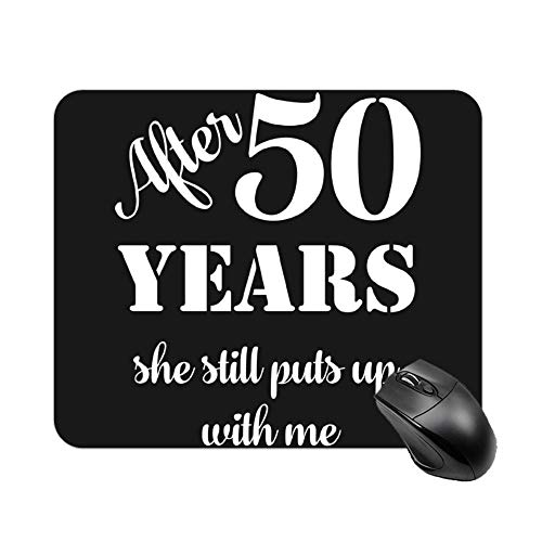 Welkoom 50Th Anniversary Funny Mens Party Photo Tee Pattern Decorative Mouse Pad Custom Custom Mouse Pad Painting Art Mouse Pads]()