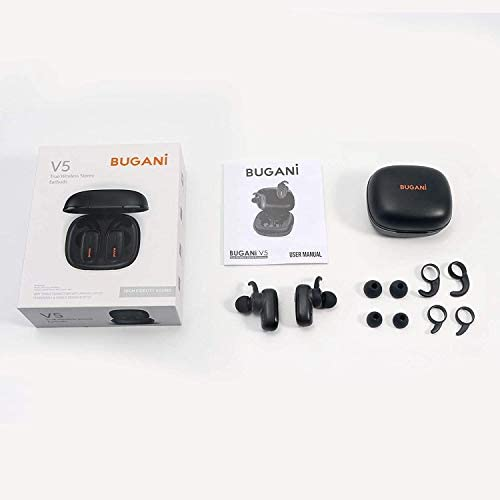BUGANI Wireless Earbuds, Bluetooth 5.0 in-Ear Headphones with Charging Box, subwoofer with TWS Stereo Headphones, Charging Function IPX5 Waterproof Function, Built-in Microphone …