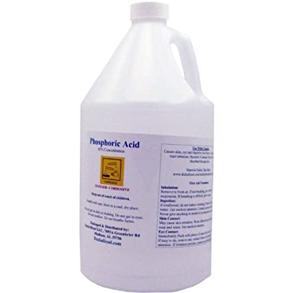 1 Gallon 85% Food Grade Phosphoric Acid Rust Remover Clean Etch Metal