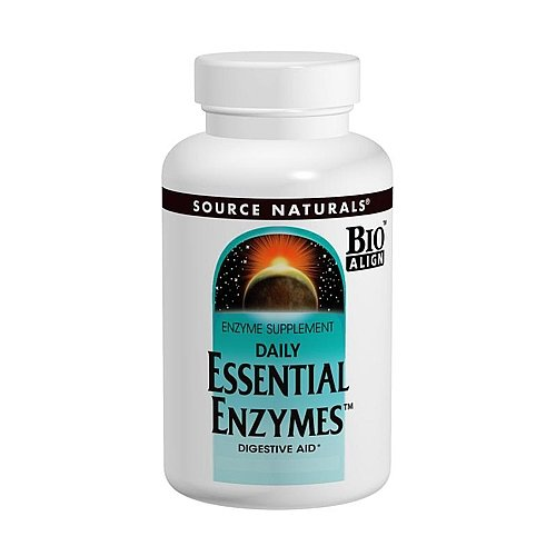 Source Naturals Daily Essential Enzymes -- 500 mg - 240 Vege