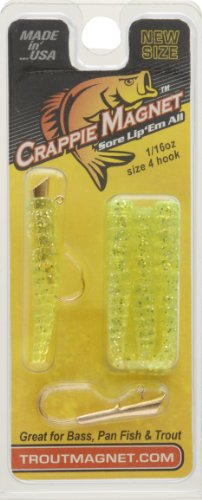 Trout Magnet Lures (Trout Crappie Magnet, Chartreuse Silver)