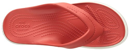 Crocs White Citilaneflip Chaussons Mixte Adulte Mules Rouge Flame OOzqrwa