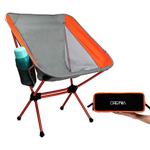 oremila Camping Chair, Compact Ultralight Folding Backpacking Chairs with Carry Bag, Portable for Outdoor Camping Fishing Picnic Hiking, 330lbs Capacity
