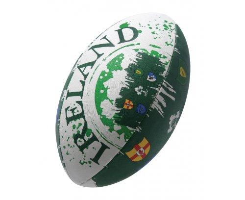 GILBERT International Flag Ireland Supporter Rugby Ball, 5
