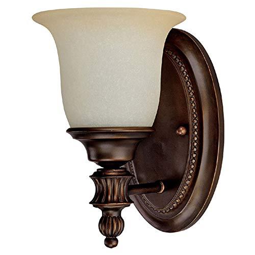Capital Lighting 1701BB-291 Avery 1-Light Vanity Fixture, Burnished Bronze with Mist Scavo - Scavo Glass Mist