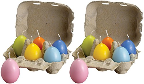 Biedermann & Sons Crated Egg Candles, Set of 12