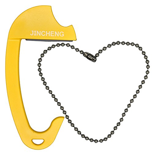 JINCHENG Hand-bag Hanger Purse Hook for Car or Table, Portable,Heavy Duty for 15Kg Maximum Weight, Yellow Color