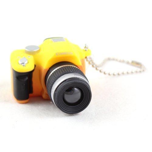 Schlüsselanhänger von Yeah67886 im Mini-Kamera-Design, in Gelb