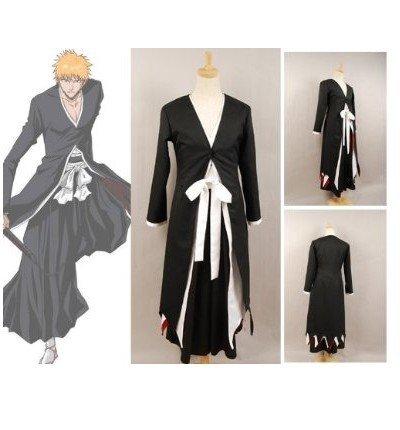 Bleach Kurosaki Cosplay Costume - Bleach Ichigo Kurosaki Bankai Form Cosplay Costume Customize Cosplay Costume