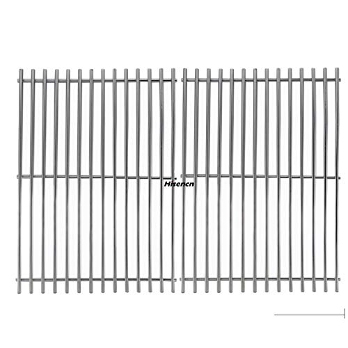 (Hisencn BBQ Replacement Stainless Steel Cooking Grid Grates Parts for Great Outdoors,Charbroil 463250509, 463250510, Thermos 461262409, Vermont Castings Grills)