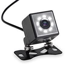 Rear Backup Camera, Esky 8 LED Night Vision Car Front with Guideline, One Button Control