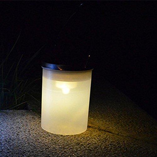 (Staron Fashion Solar Bucket Shape LED Hanging Lamp Outdoor Chandelier Garden Conical Hanging Lights (C))