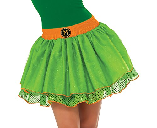 Rubie's Costume Co Women's TMNT Classic Michelangelo Tutu Costume, Green, (Ninja Turtles Costumes Women)