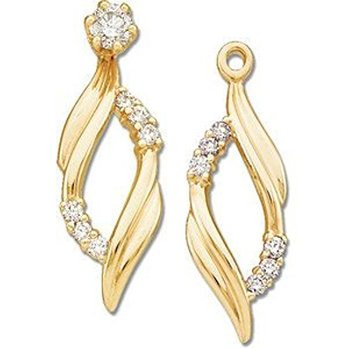 Gold -1/5 ct tw Diamond Earring Jackets