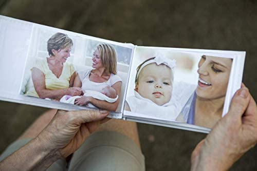 Grandparent Gifts 1st Granddaughter Brag Book white faux suede Hold 32 4x6 image