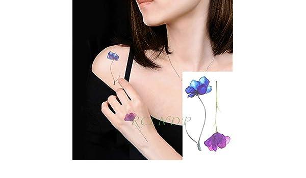 5pcs Impermeable del Tatuaje Pegatinas Lavanda Rose Tatto Tatuaje ...