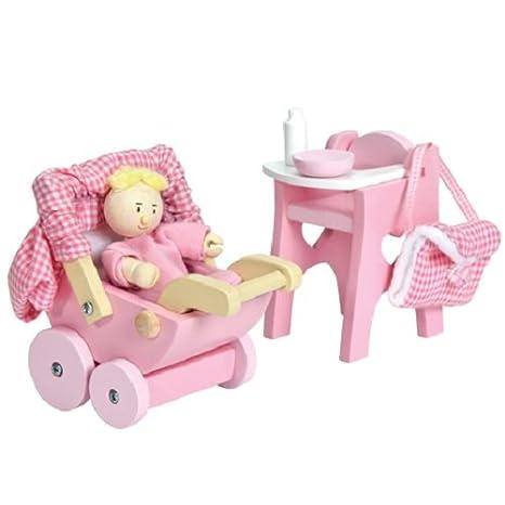 Le Toy Van ME044 - Conjunto de piezas para casa de muñecas (madera y tela