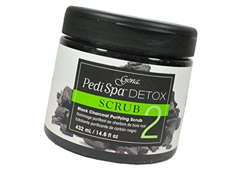 Gena PediSpa Detox SCRUB Black Charcoal Assorted Luxurious mask enriched with black charcoal coats the skin with a luxurious formula - Size 14.6 oz / 432 g ()