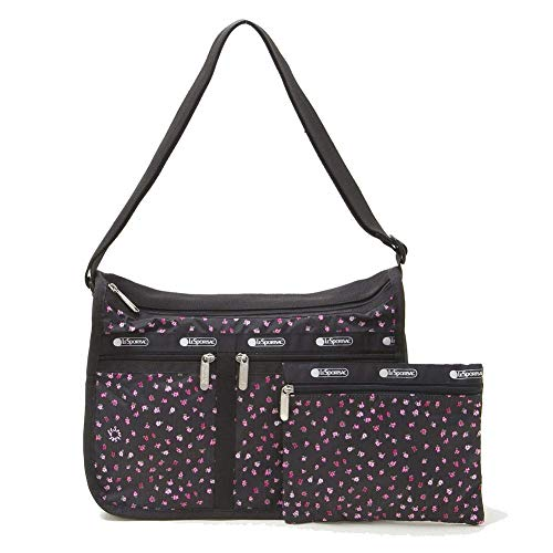 LeSportsac Petite Petals Deluxe Everyday Crossbody Bag + Cosmetic Bag, Style 7507/Color F123