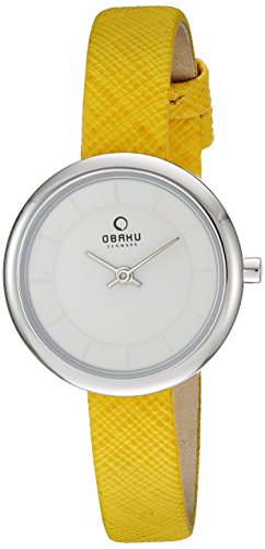 Obaku Women's V146LXCIRY Analog Display Analog Quartz Orange Watch