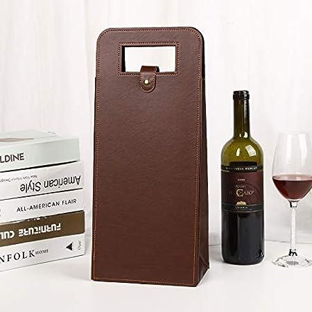 Nail Caja De Regalo De Vino Tinto Portátil La Bolsa De Regalo De Vino De Caja De Vino De Cuero De PU Puede Contener 2 Vino Tinto 2 Piezas: Amazon.es: Hogar