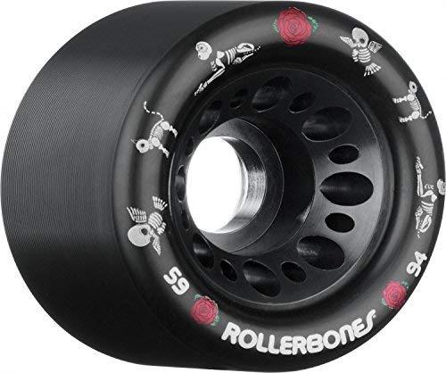 RollerBones Day of The Dead Pet Derby Skating Wheels Black - Derby Wheels