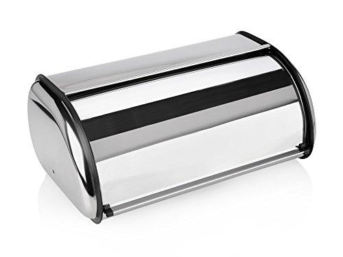 Rollbrotkasten aus Metall 42 cm Brotbehälter Brotbox Brotkasten abgerundet