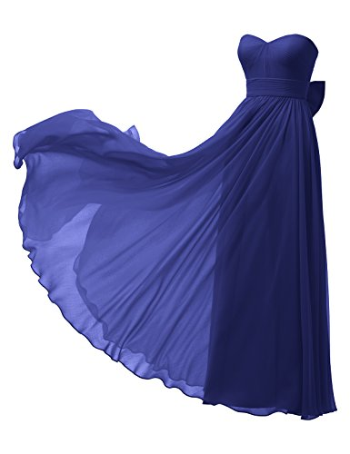 Alicepub Prom Bridesmaid Long Chiffon Gown Dress Sweetheart A Evening Line Blue Royal Maxi rTqWw4Fr