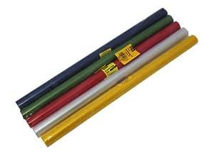 Idena 223033 - Papel de forrar libros (40 cm x 5 m, 5 rollos), varios colores [importado de Alemania]