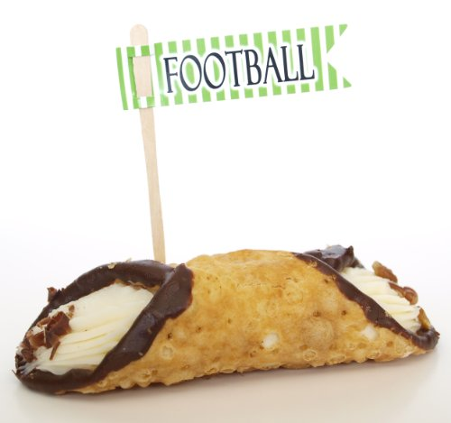 """Football"" Drink Mixers Cupcake Toppers, Green (Set of 12) – Ice Cream Sundays, Malts, and Slushies"