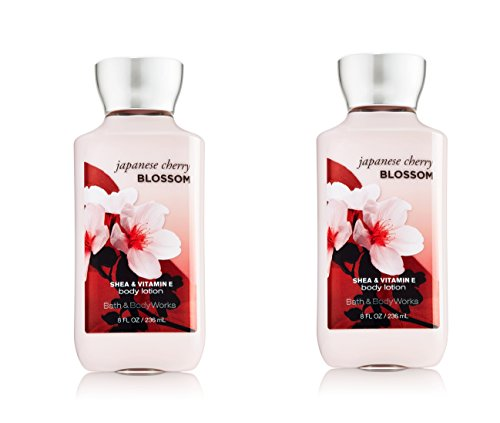 Bath & Body Works Japanese Cherry Blossom Signature Collection Body Lotion 8 fl oz (236 ml) - New Formula (2 Pack)