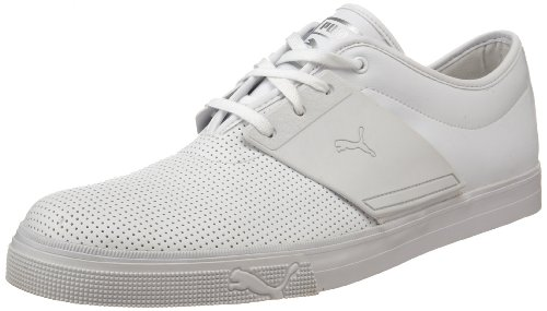 Puma Mens El Ace Läder Sneaker Vit / Vit / Vit