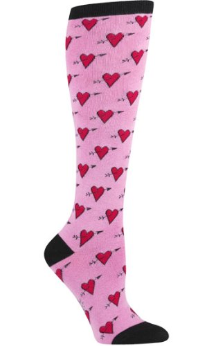 Sock It to Me, Hearts, Women's Knee-High Funky Socks, Love Heart Sock (High Love Knee Socks)