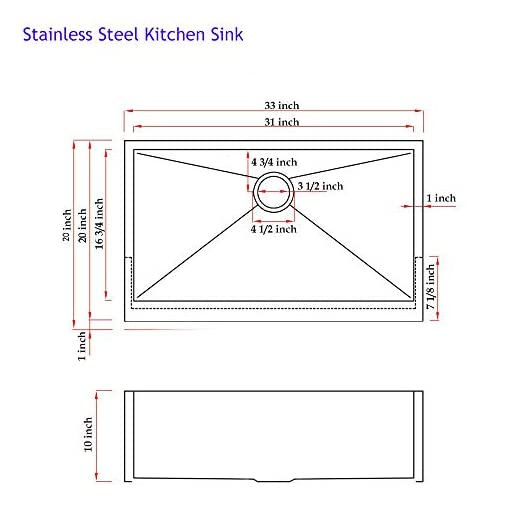 Farmhouse Kitchen 33″ Workstation Drop In Farmhouse Black Stainless Steel Ledge Kitchen SInk,Undermount Kitchen SInk Single Bowl with Accessories By Hotis farmhouse kitchen sinks