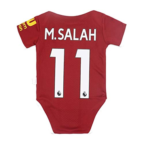 Fc Liverpool #11 Salah Soccer Club Cotton Bobysuit Onesie Baby Suit for Romper Red