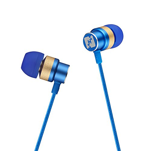 one, Kinwal Nylon Braided Headphones Stereo Noise Isolation Headset with Mic for iPhone, iPod, iPad, Android Smartphone and Tablet, MP3 Player and all 3.5mm Audio Devices (Blue) (3.5 Mm Blue Earbud)