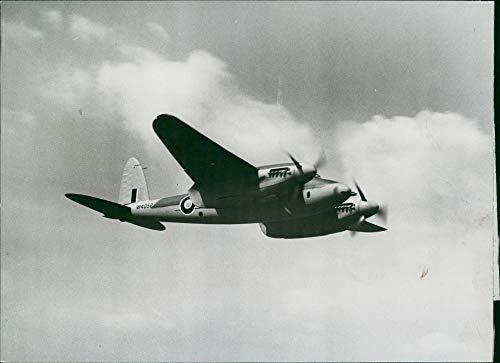 Mosquito Engine Twin (Vintage photo of de Havilland Mosquito Combat aircraft:Fastest Aircraft.)