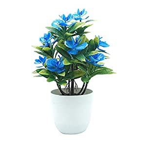 lightclub 1Pc Potted Artificial Butterfly Orchid Flower with Pot Vase Garden Wedding Party Decoration 63