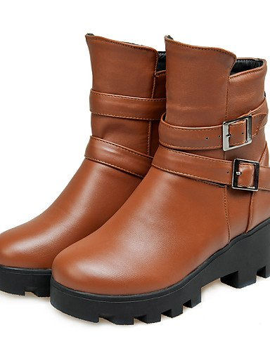 Xzz Eu38 Black Uk5 Eu37 us6 Botas Oficina Zapatos 5 Moto 5 Casual Black us7 Mujer Vestido Uk4 5 Uk 5 negro Semicuero De 7 Dividida Punta Cn38 Suela Y Cn37 5 Trabajo Redonda rrqafRHx