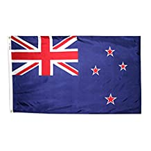 New Zealand Flag 3x5 ft. Nylon SolarGuard Nyl-Glo 100% Made in USA to Official United Nations Design Specifications by Annin Flagmakers.  Model 196161