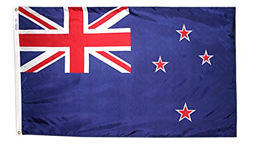 Annin Flagmakers Model 196161 New Zealand Flag 3x5 ft. Nylon