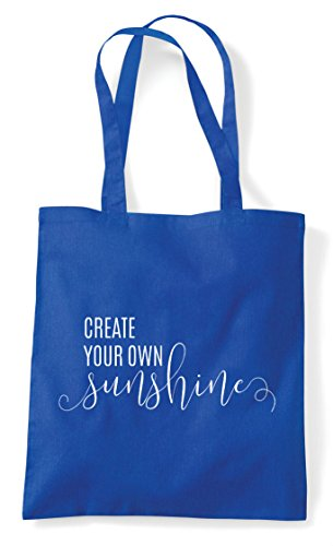 Blue Tote Bag Royal Your Shopper Statement Own Sunshine Create qwxTIZA8x