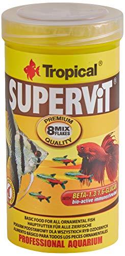 Tropical Supervit Premium – Comida para Todos los Peces Ornamentales, 1 Unidad (250 ml)