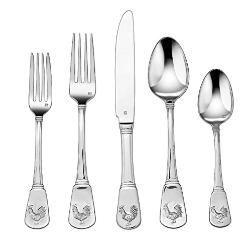 Cuisinart CFE-01-FR20 20-Piece Flatware Set, French (Le Rooster Set)