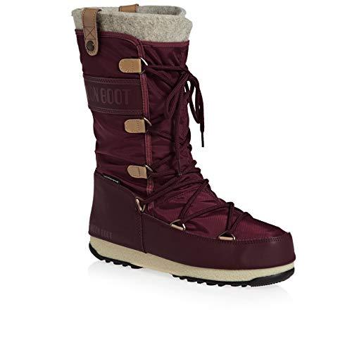 - Moon Boot Womens Tecnica WE Monaco Felt WP Durable Thermal Winter Boot - Port Royale - 8
