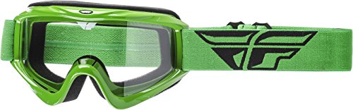 Fly Racing Men's Focus Goggle (Green with Clear Lens, One Size)