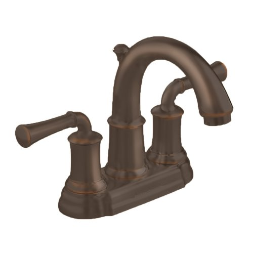 American Standard 7420.201.224 Portsmouth Centerset Lavatory Faucet with Speed Connect Drain with Lever Handles, Crescent Spout, Oil Rubbed Bronze 4' Centerset Faucet Oil