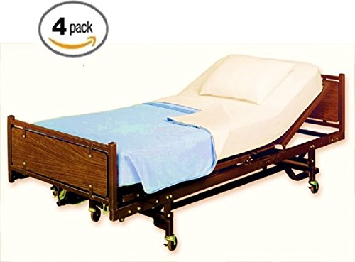 ProCare Flat Hospital Bed Sheets, Ivory 4pk by ProCare (Image #1)