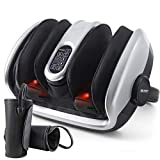 Shiatsu Foot and Calf Massager Machine with Air Compression Leg Massager, Deep Kneading with Heat for Feet, Leg, Calf, Ankles, Relieves Plantar Fasciitis, Neuropathy, Tired Muscle